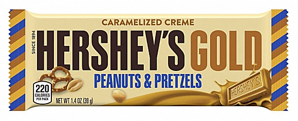 Hershey's Gold with Peanuts and Pretzels (Case of 24)