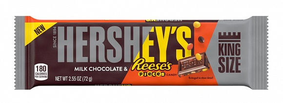 Hershey's Milk Chocolate & Reese's Pieces King Size (18 x 72g)
