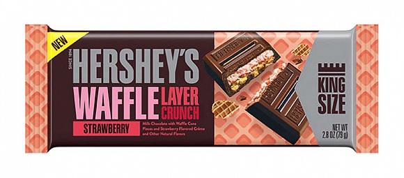 Hershey's Waffle Layer Crunch Strawberry King Size (18 x 79g)