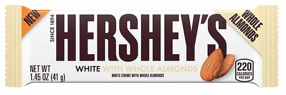 Hershey's White Creme With Almonds (12 x 36 x 41g)