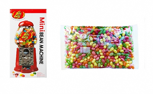 Jelly Belly Mini Bean Machine with 1kg Cocktail Mix Beans