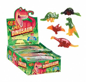 Jelly Belly Pet Dinosaur Gummi Candy (Box of 24)