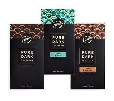 Karl Fazer Pure Dark Chocolate Collection (285g)