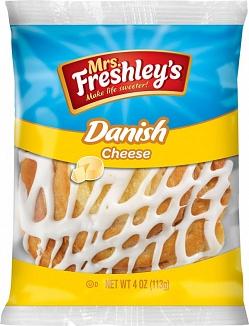 Mrs. Freshley's Round Cheese Danish (Box of 8)