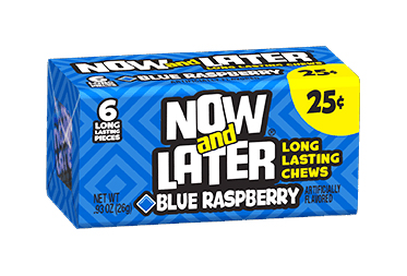 Now & Later Blue Raspberry (Box of 24)