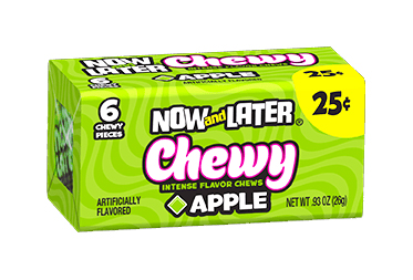 Now & Later Chewy Apple (Box of 24)