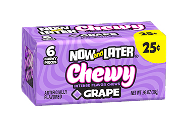 Now & Later Chewy Grape (Box of 24)