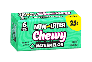 Now & Later Chewy Watermelon (Box of 24)