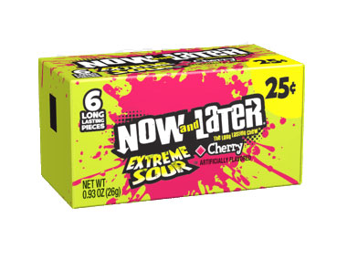 Now & Later Extreme Sour Cherry (24 x 26g)