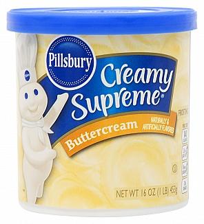 Pillsbury Creamy Supreme Buttercream Frosting (8 x 453g)