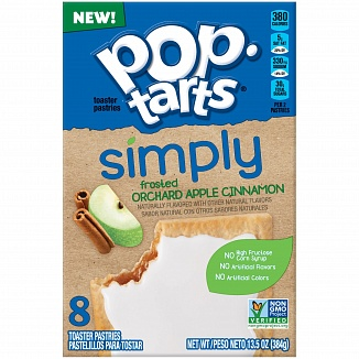 Pop-tarts Simply Frosted Orchard Apple Cinnamon 8 Pack (12 x 384g)