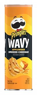 Pringles Wavy Applewood Smoked Cheddar (8 x 137g)