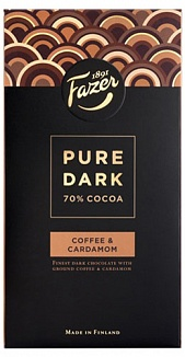 Fazer Pure Dark 70% Cocoa Coffee & Cardamom (95g)