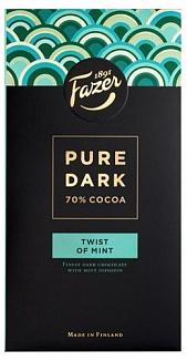 Fazer Pure Dark 70% Cocoa Twist of Mint (95g)