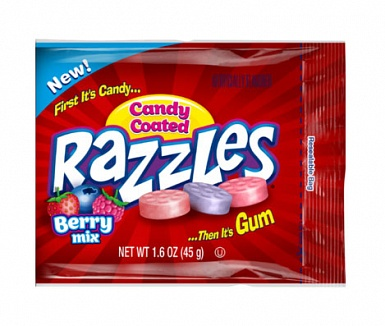 Razzles Candy Coated Berry Mix (24 x 45g)