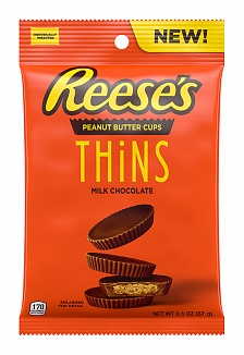 Reese's Peanut Butter Thins Milk Chocolate (8 x 88g)