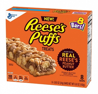 Reese's Puffs Treats Bars 8 Pack (6 x 192g)