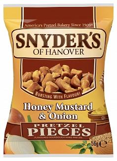 Snyder's Pretzel Pieces Honey Mustard & Onion (30 x 56g)