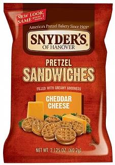 Snyder's Pretzel Sandwiches Cheddar Cheese (10 x 60g)