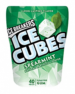 Spearmint Ice Breakers Ice Cubes Gum Bottle (12 x 6ct)