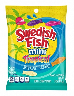 Swedish Fish Mini Tropical 142g