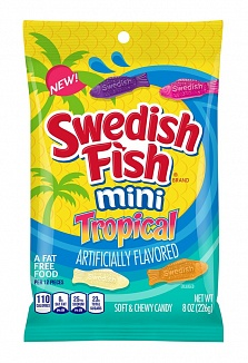 Swedish Fish Mini Tropical 226g
