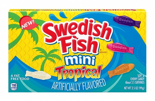 Swedish Fish Mini Tropical (Theatre Box) (12 x 99g)