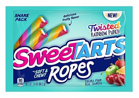 SweeTARTS Ropes Twisted Rainbow Punch (12 x 99g)
