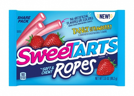 SweeTARTS Soft & Chewy Ropes Tangy Strawberry (12 x 99g)