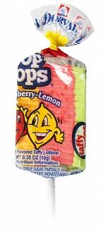 Top Pops Strawberry-Lemon Taffy Pops (Box of 48)