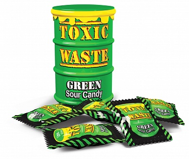 Toxic Waste Green Sour Candy Drum (12 x 42g)