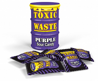 Toxic Waste Purple Sour Candy Drum (42g)