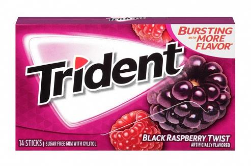 Trident Black Raspberry Twist Gum (Box of 12)