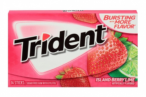 Trident Island Berry Lime Gum (Box of 12)