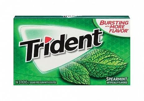 Trident Spearmint Gum (Box of 12)