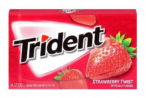 Trident Strawberry Twist Gum (Box of 12)