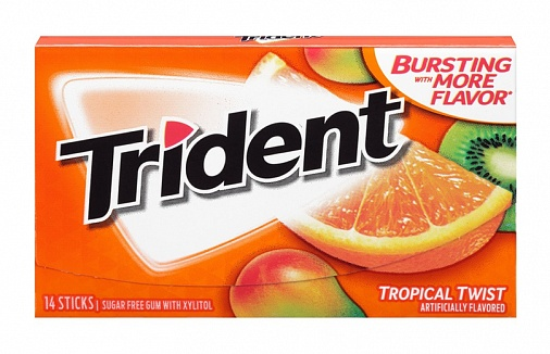 Trident Tropical Twist Gum (12 x 12ct)