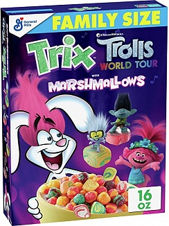 Trix Cereal Trolls with Marshmallows Family SIze (6 x 453g)