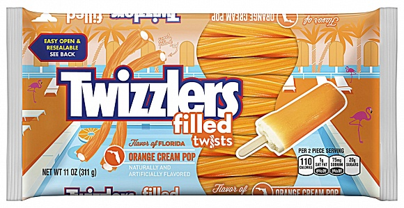 Twizzlers Orange Cream Pop Filled Twists (12 x 311g)