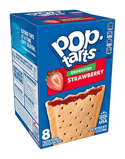 Unfrosted Strawberry Pop-Tarts (12 x 8 pastries)