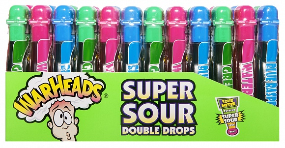Warheads Double Drops Liquid Candy (Box of 24)