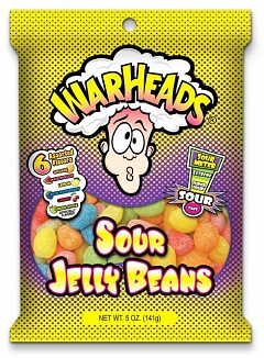 Warheads Sour Jelly Beans (Case of 12)