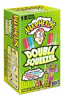 Warheads Freezer Pop Double Squeezee 12 Pack (240ml)