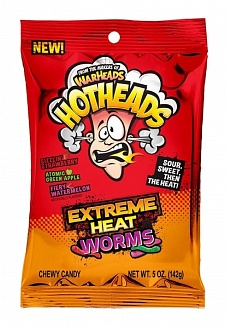 Warheads Hothead Extreme Heat Worms (12 x 141g)
