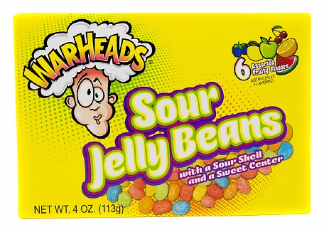 Warheads Sour Jelly Beans (12 x 113g)