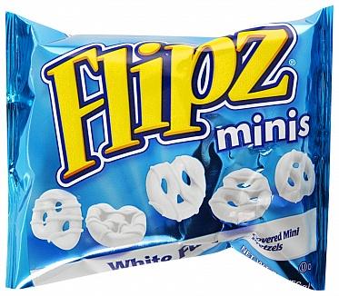 White Fudge Pretzel Flipz Minis