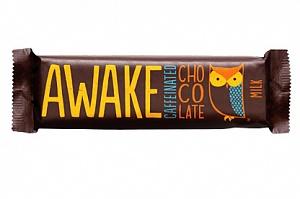 Awake Caffeinated Milk Chocolate Bars (Box of 12)