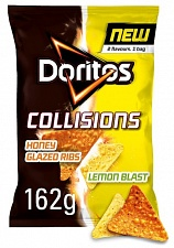 Doritos Collisions Honey Glazed Rib & Lemon Tortilla Chips 162g (Case of 12)