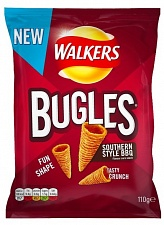 Walkers Bugles Southern Style Bbq 110g (Case of 12)