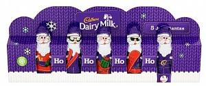 Cadbury Mini Hollow Santas Ps 75g (Case of 9)